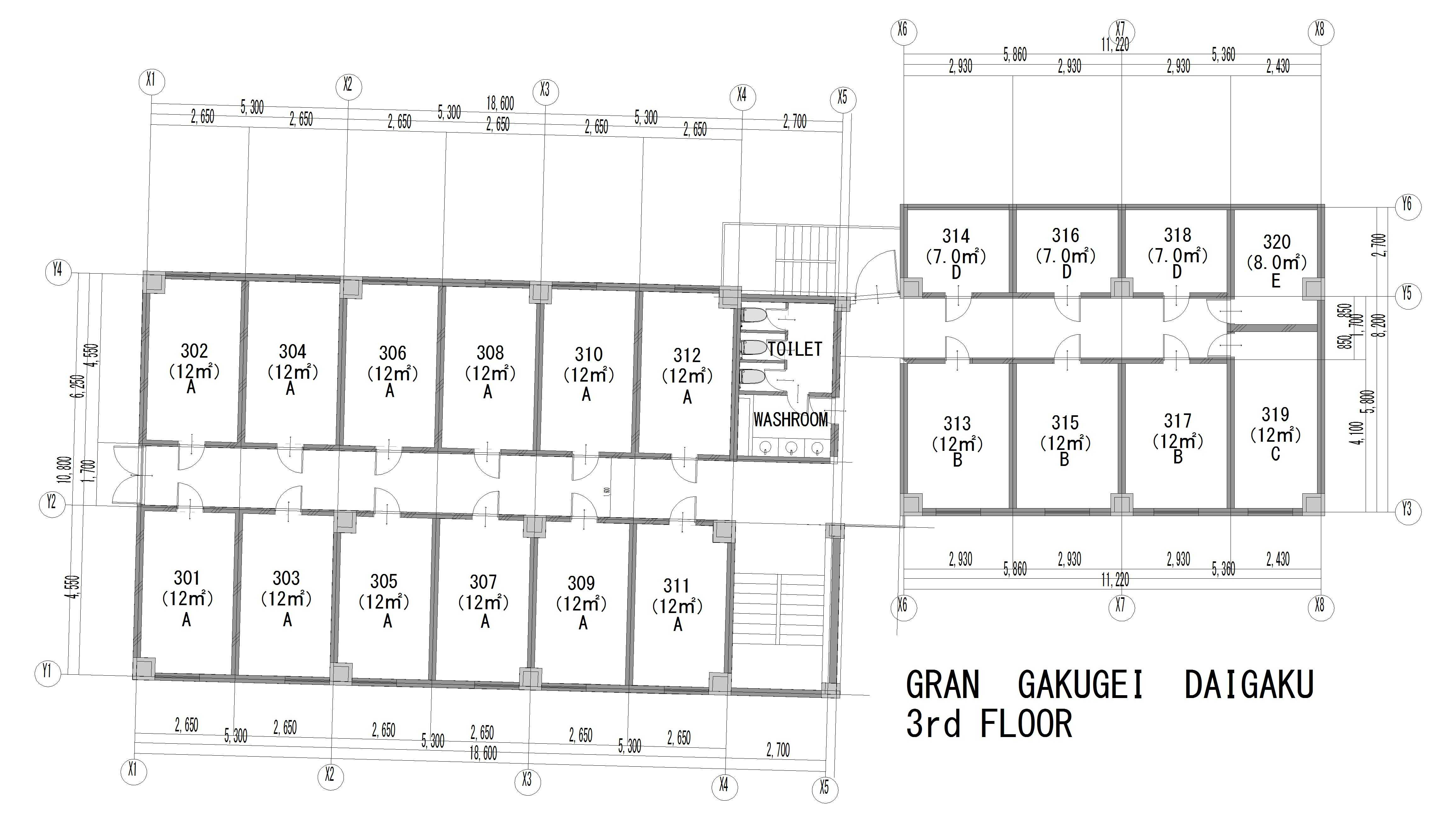 guesthouse sharehouse GRAN學藝大學 floorplan3
