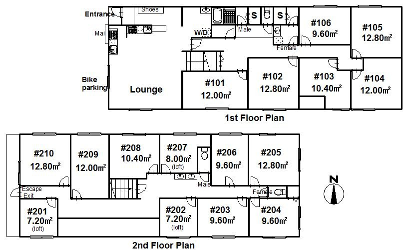 guesthouse sharehouse プレミア町屋 floorplan1
