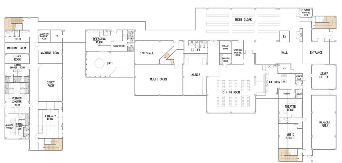 guesthouse sharehouse Social Residence 나리타(야치요) floorplan1