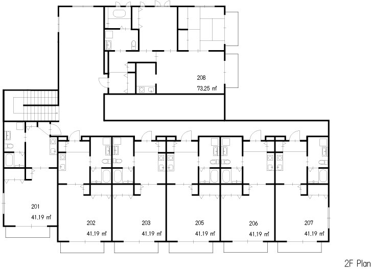 guesthouse sharehouse OAK APARTMENT EDA floorplan2