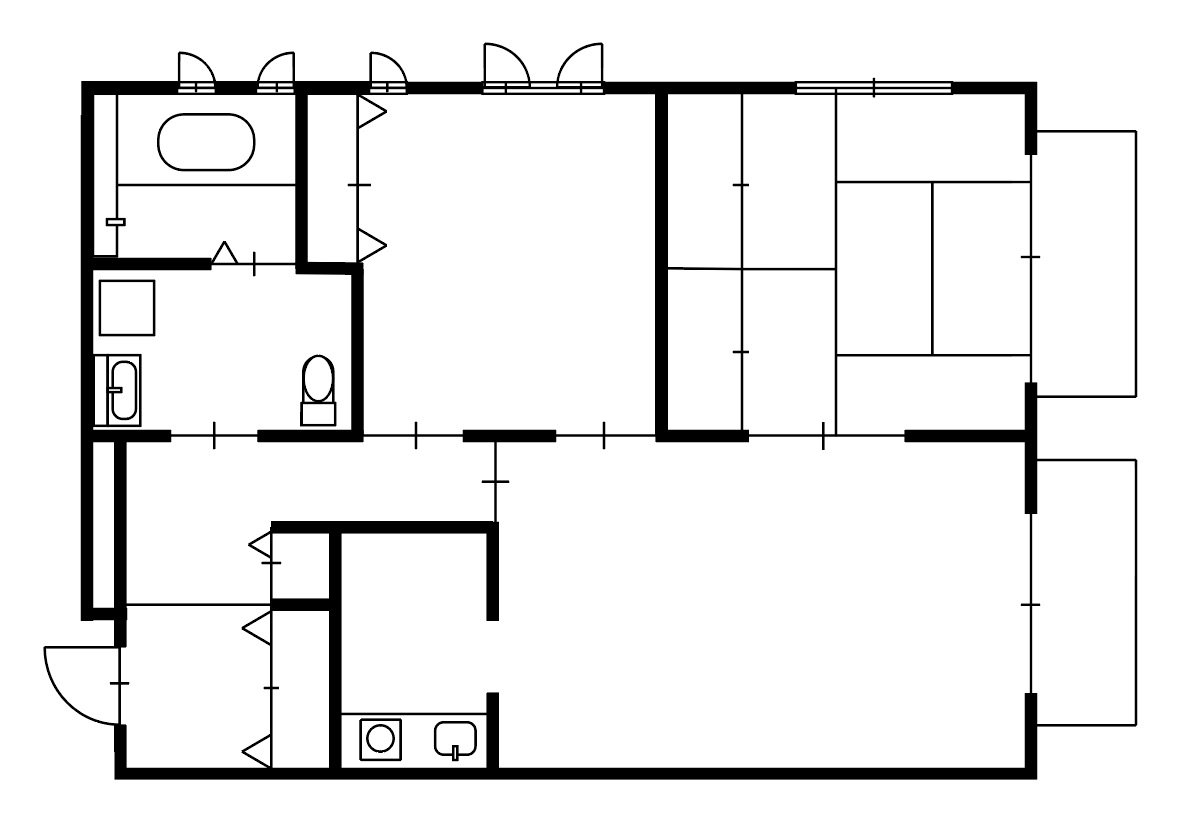 guesthouse sharehouse OAK APARTMENT EDA floorplan5