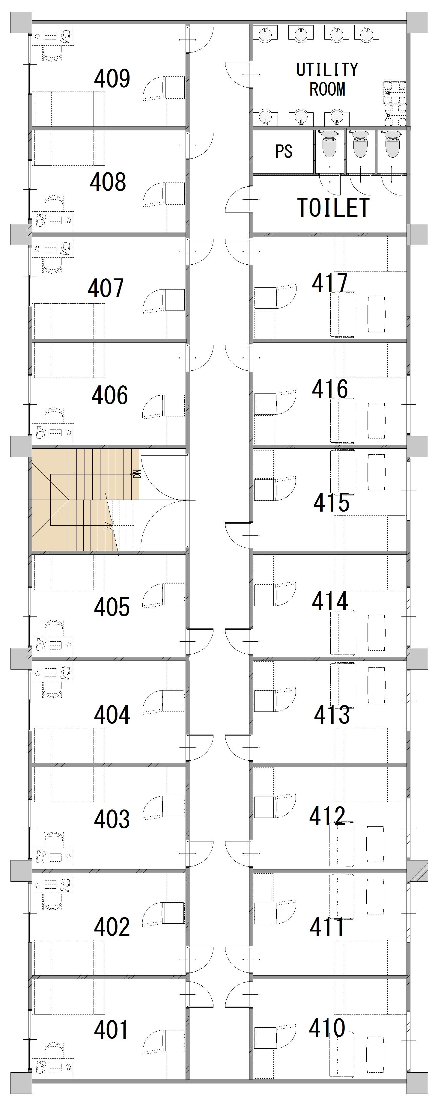 guesthouse sharehouse パークビュー宮崎台 floorplan4