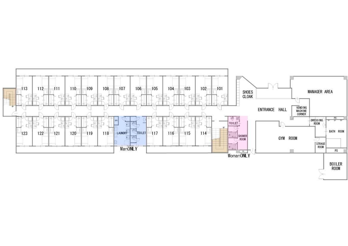 guesthouse sharehouse SOCIAL RESIDENCE AOBADAI floorplan1
