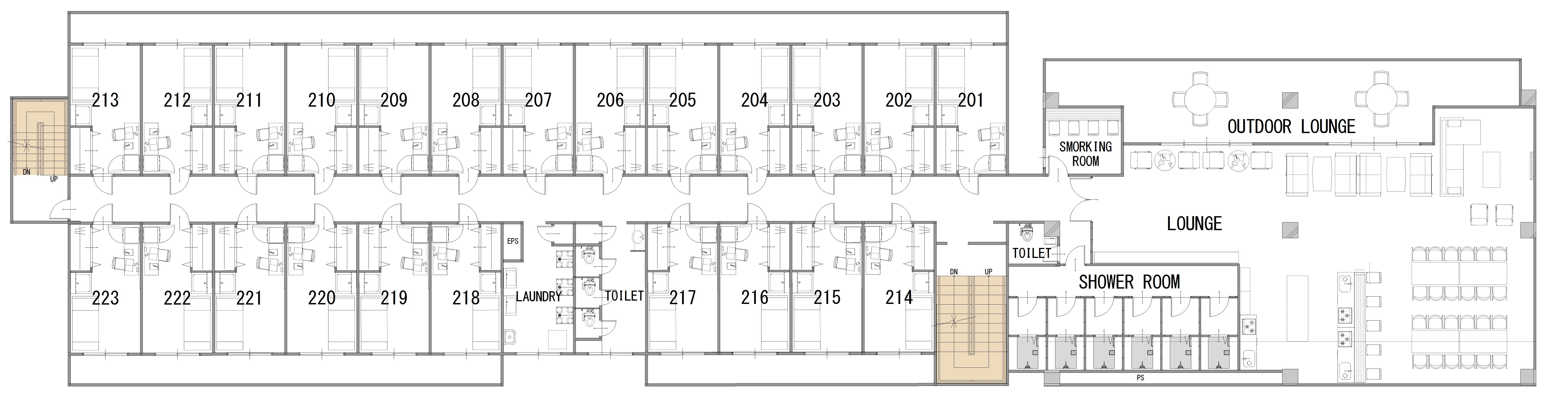 guesthouse sharehouse SOCIAL RESIDENCE AOBADAI floorplan2