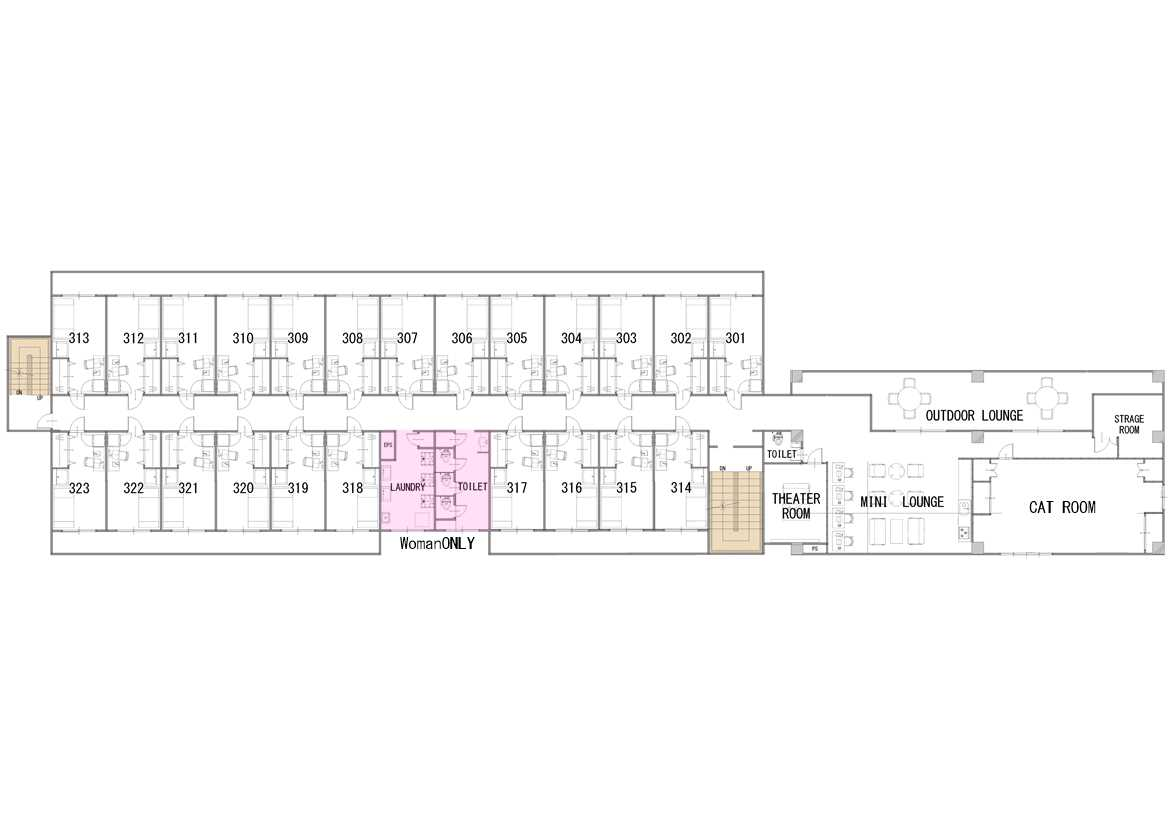 guesthouse sharehouse SOCIAL RESIDENCE AOBADAI floorplan3