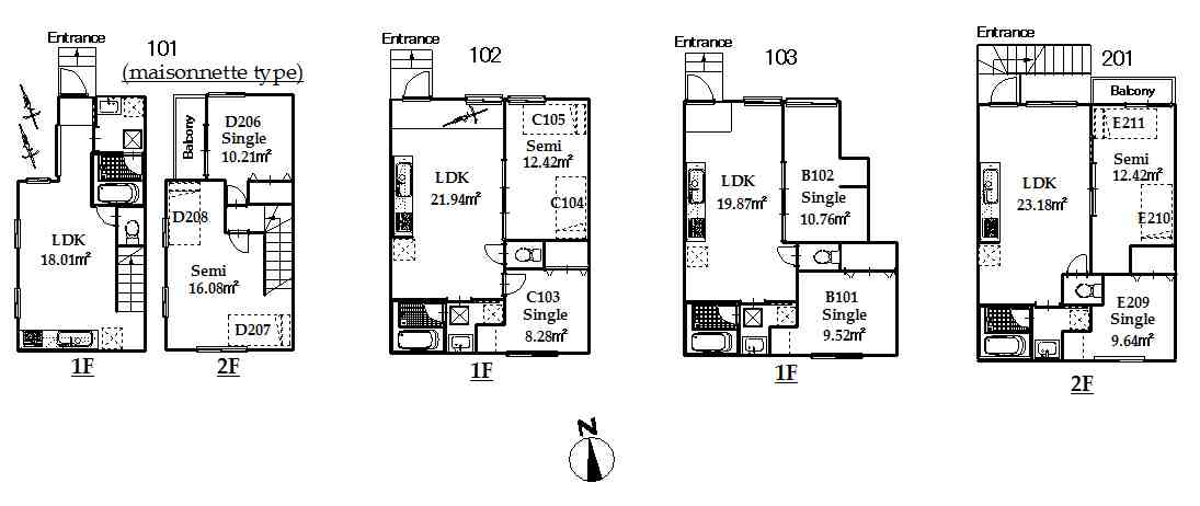 guesthouse sharehouse オークテラス三軒茶屋 floorplan2