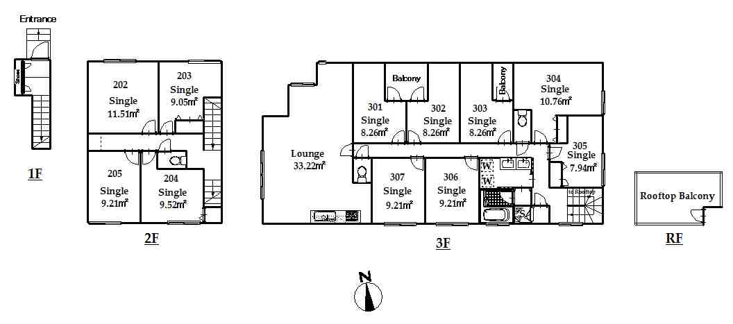 guesthouse sharehouse オークテラス三軒茶屋 floorplan3