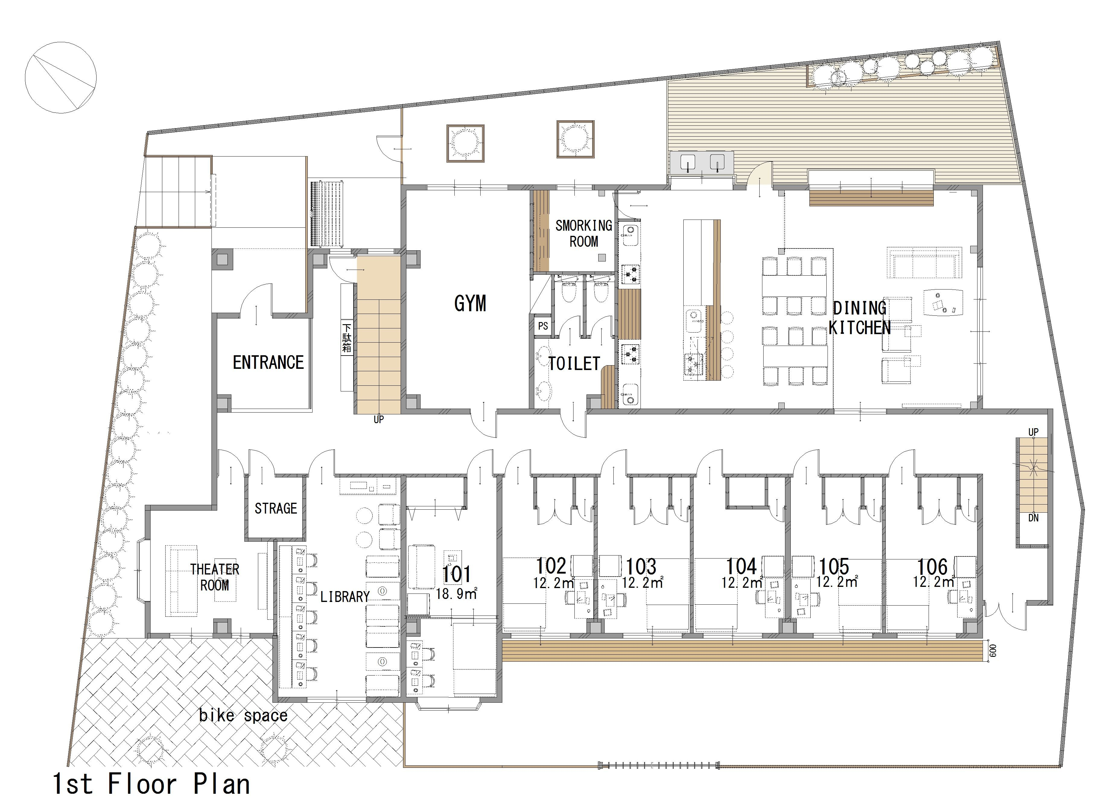 guesthouse sharehouse GRAN MITAKADAI floorplan1