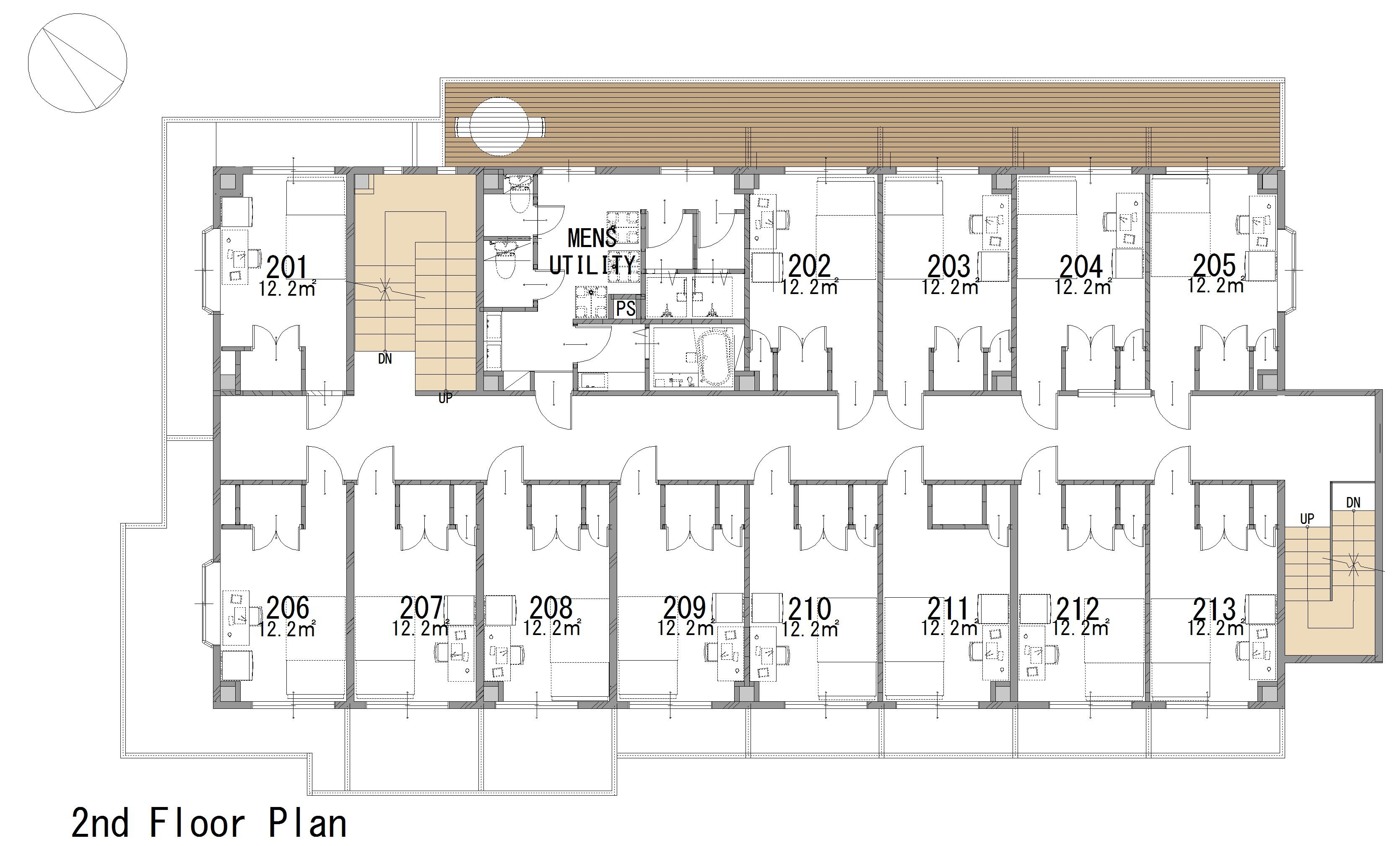 guesthouse sharehouse GRAN MITAKADAI floorplan2
