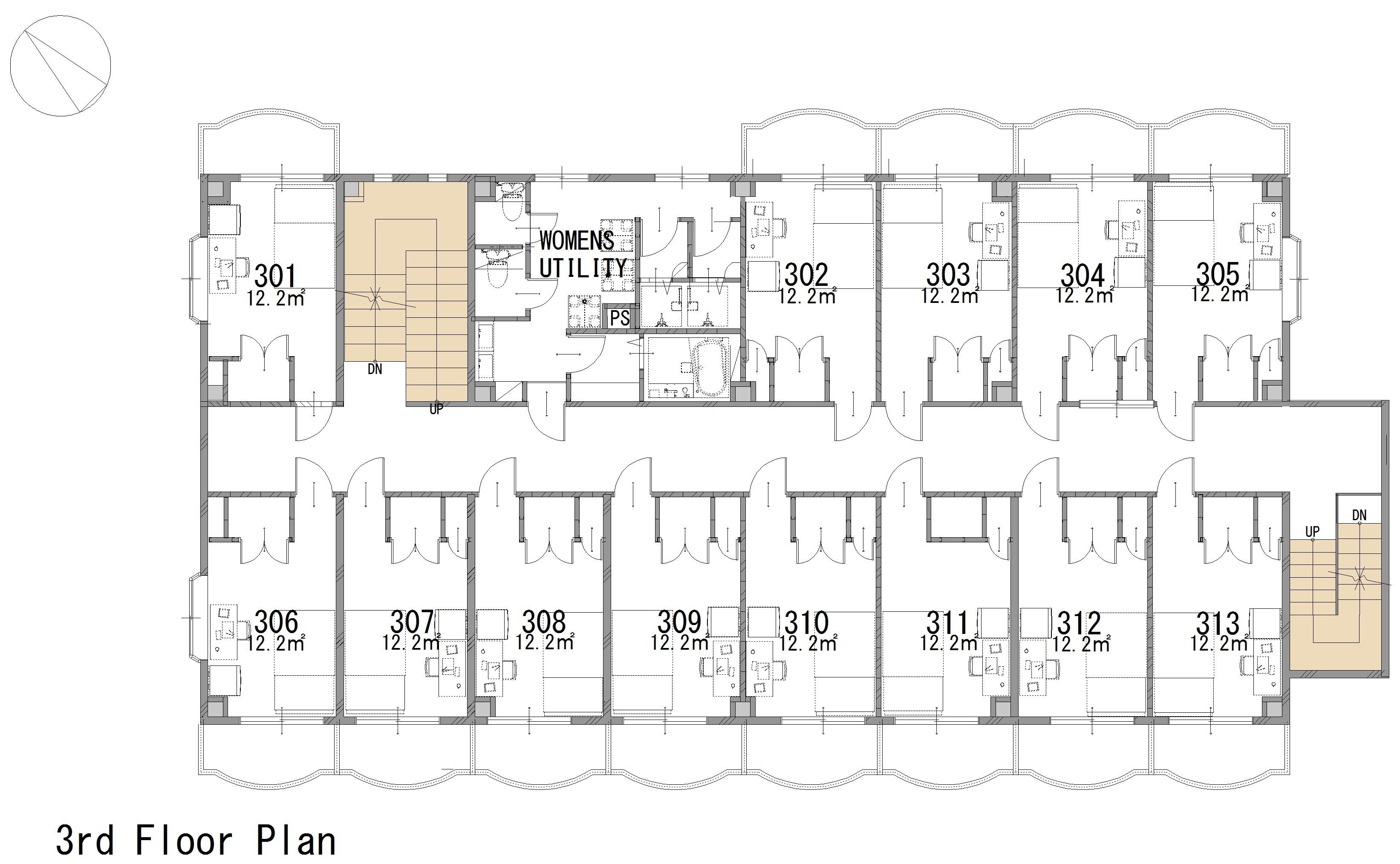 guesthouse sharehouse GRAN MITAKADAI floorplan3