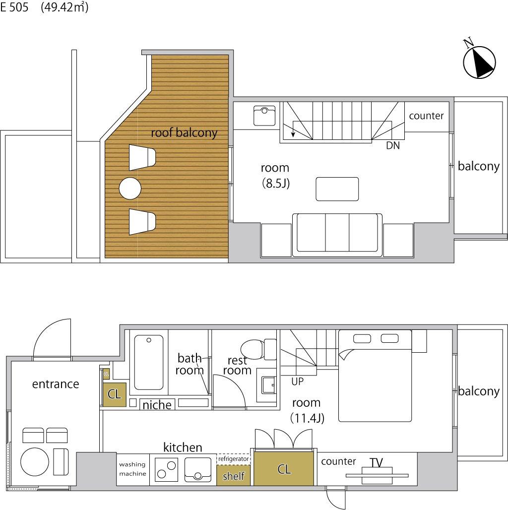 guesthouse sharehouse ヘーベルSTAY代官山 floorplan11