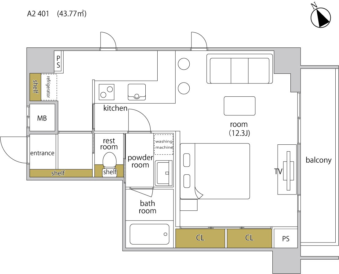 guesthouse sharehouse ヘーベルSTAY代官山 floorplan2