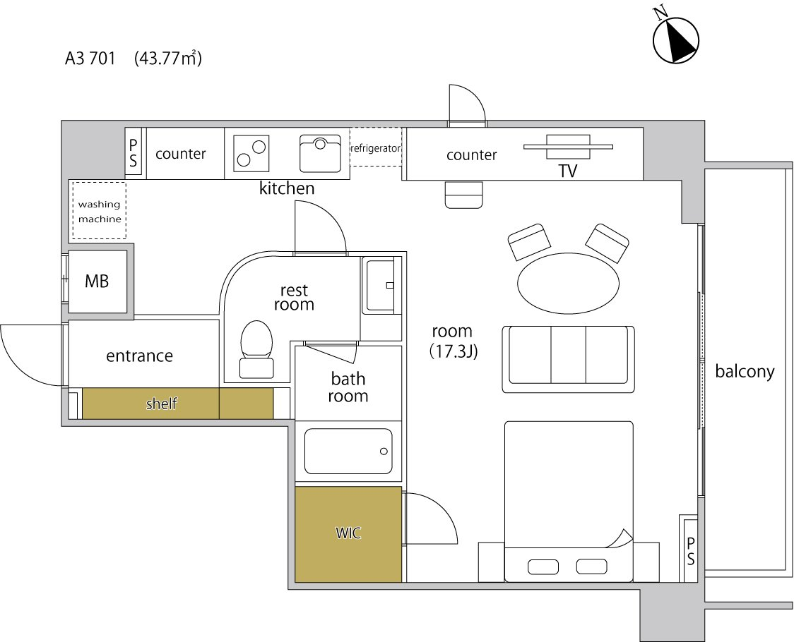 guesthouse sharehouse ヘーベルSTAY代官山 floorplan3