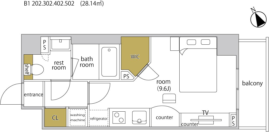guesthouse sharehouse ヘーベルSTAY代官山 floorplan4