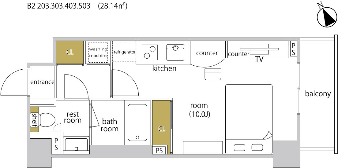 guesthouse sharehouse ヘーベルSTAY代官山 floorplan5