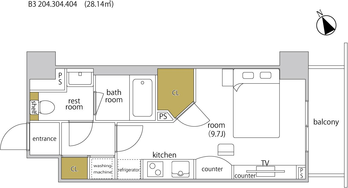 guesthouse sharehouse ヘーベルSTAY代官山 floorplan6