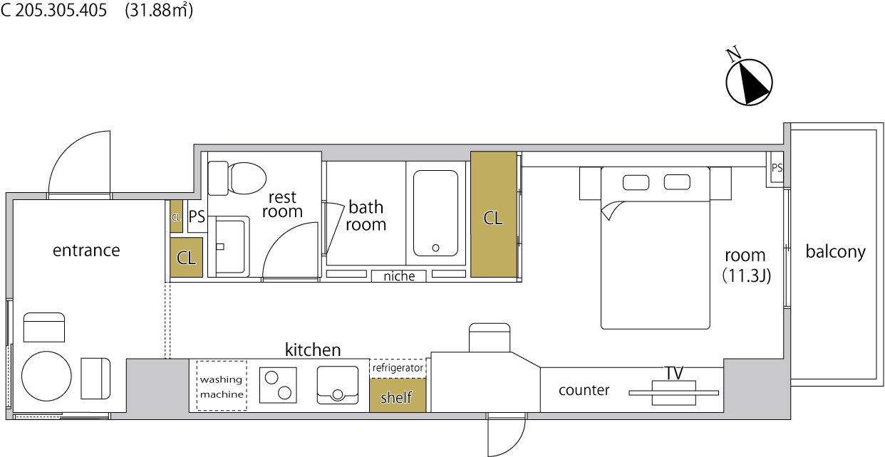 guesthouse sharehouse ヘーベルSTAY代官山 floorplan7