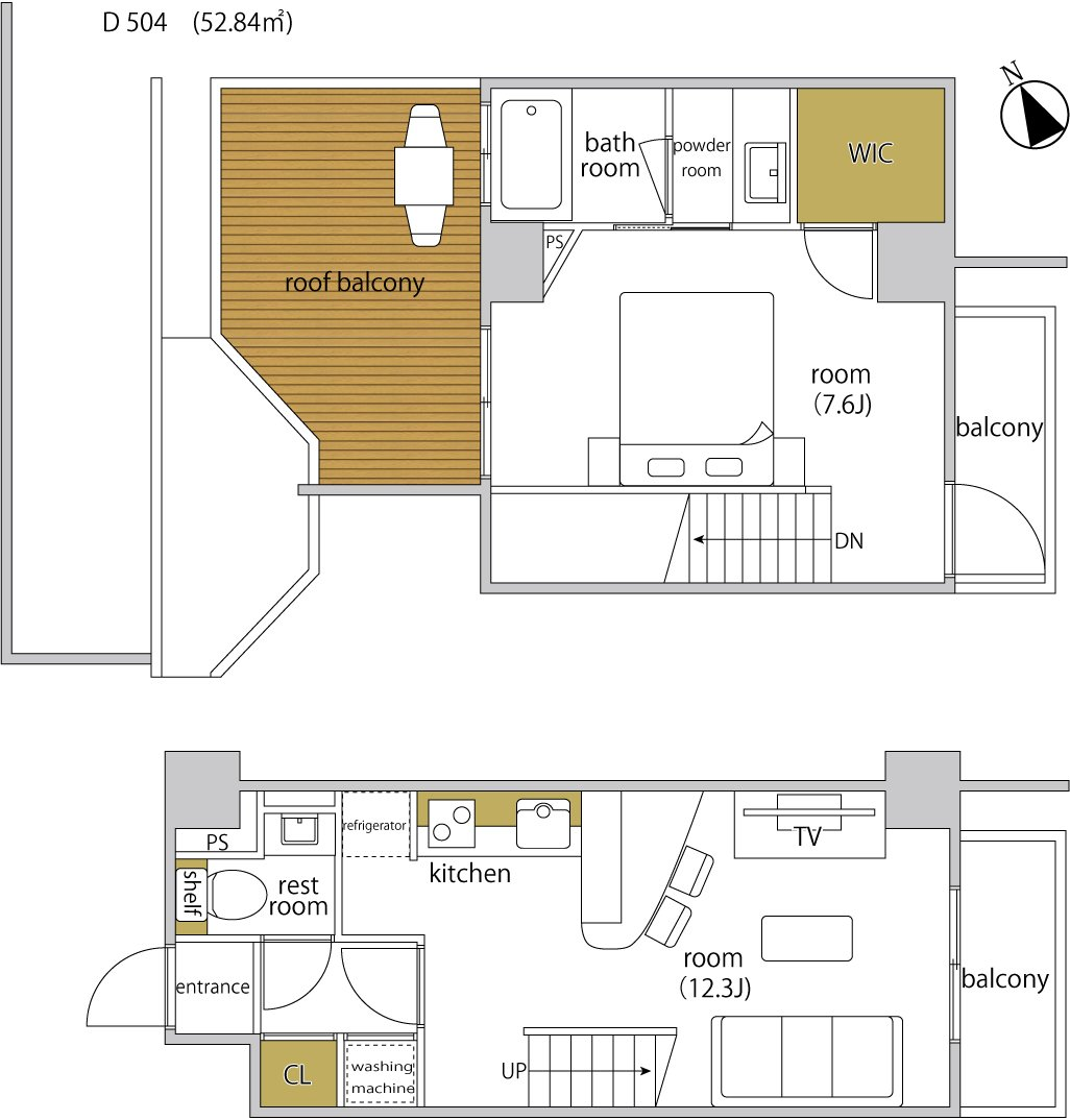 guesthouse sharehouse ヘーベルSTAY代官山 floorplan8