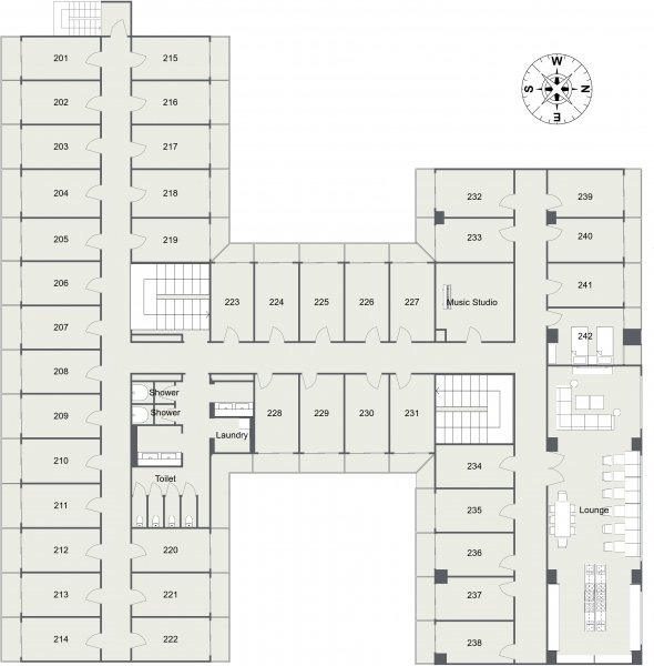 guesthouse sharehouse Social Residence 훗사 floorplan2