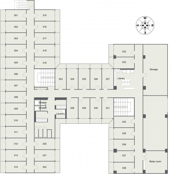 guesthouse sharehouse Social Residence 훗사 floorplan3