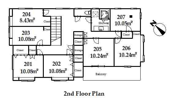guesthouse sharehouse オークハウス川越南古谷 floorplan2