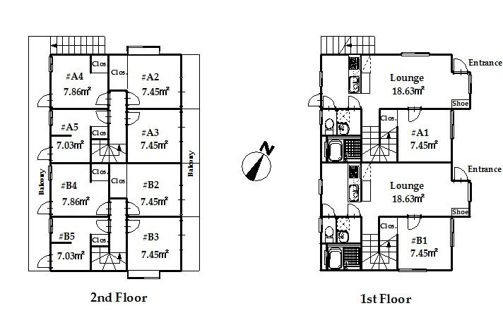 guesthouse sharehouse オークハウス川越南古谷 floorplan3