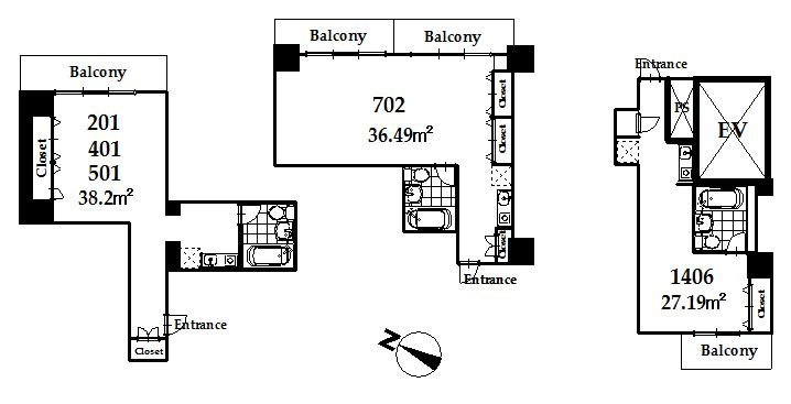 guesthouse sharehouse MAISON DE VILLE麻布台 floorplan1