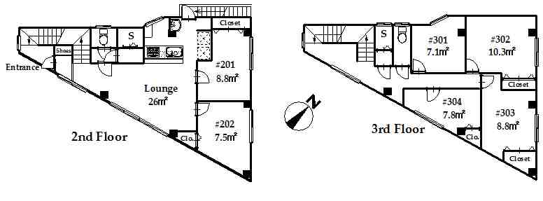guesthouse sharehouse OAKHOUSE IKEJIRI-OHASHI floorplan1