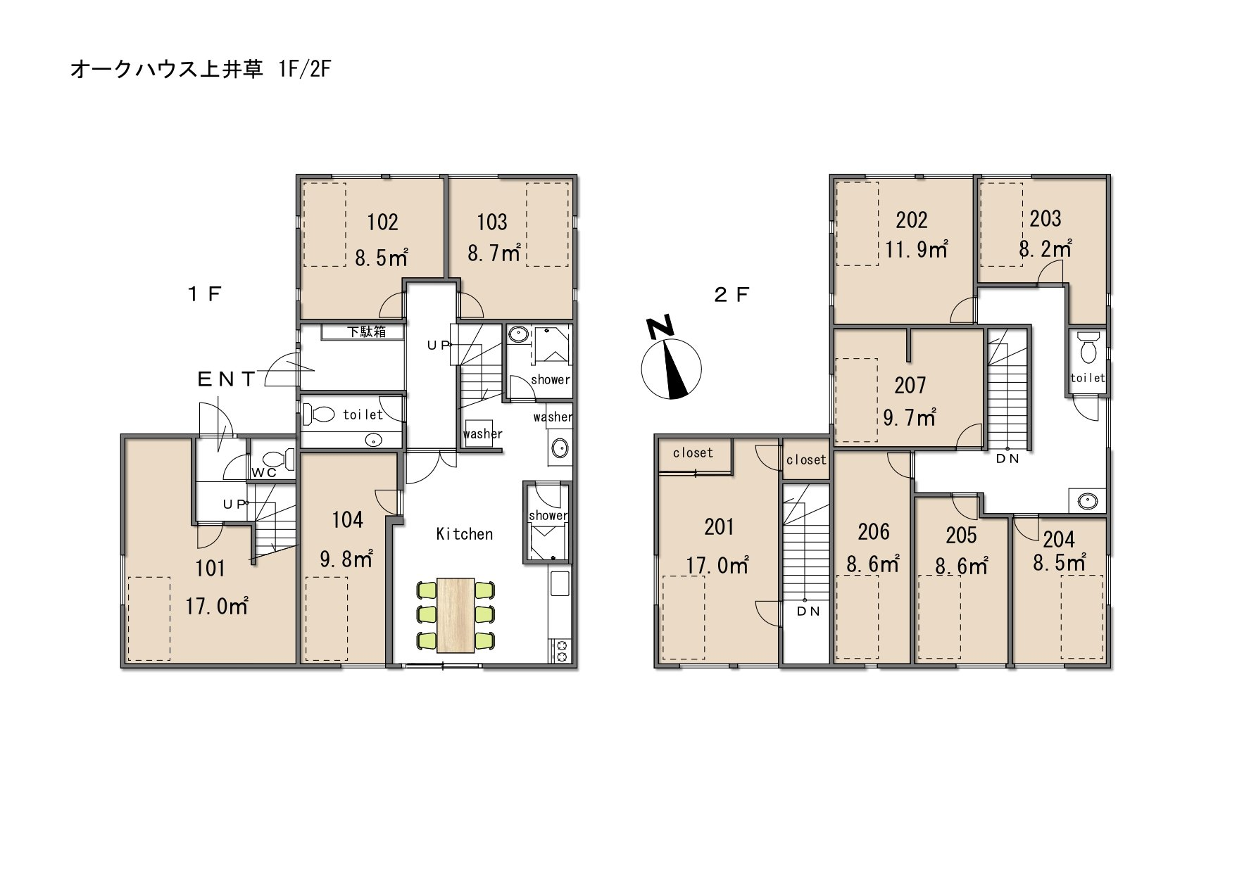 guesthouse sharehouse OAKHOUSE上井草 floorplan1