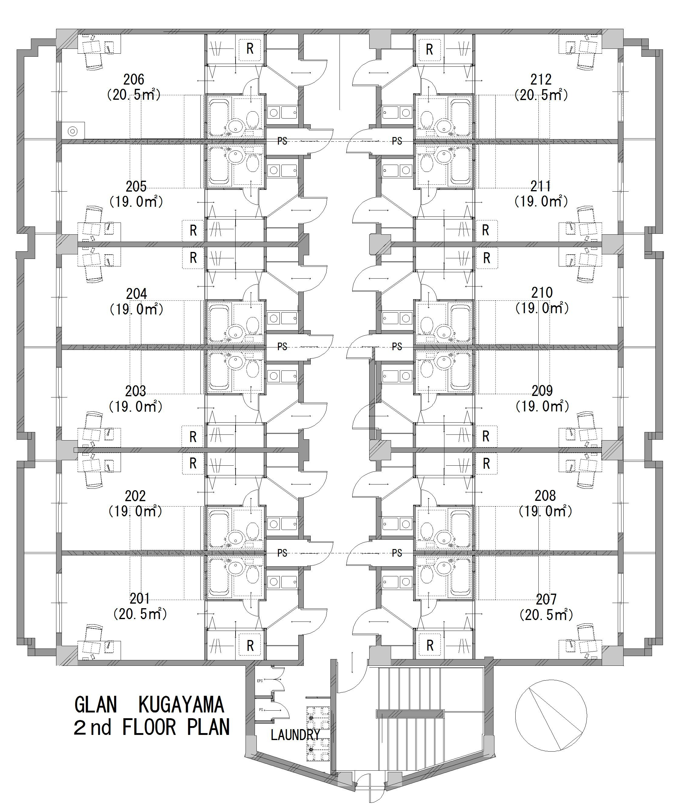 guesthouse sharehouse グラン久我山 floorplan2