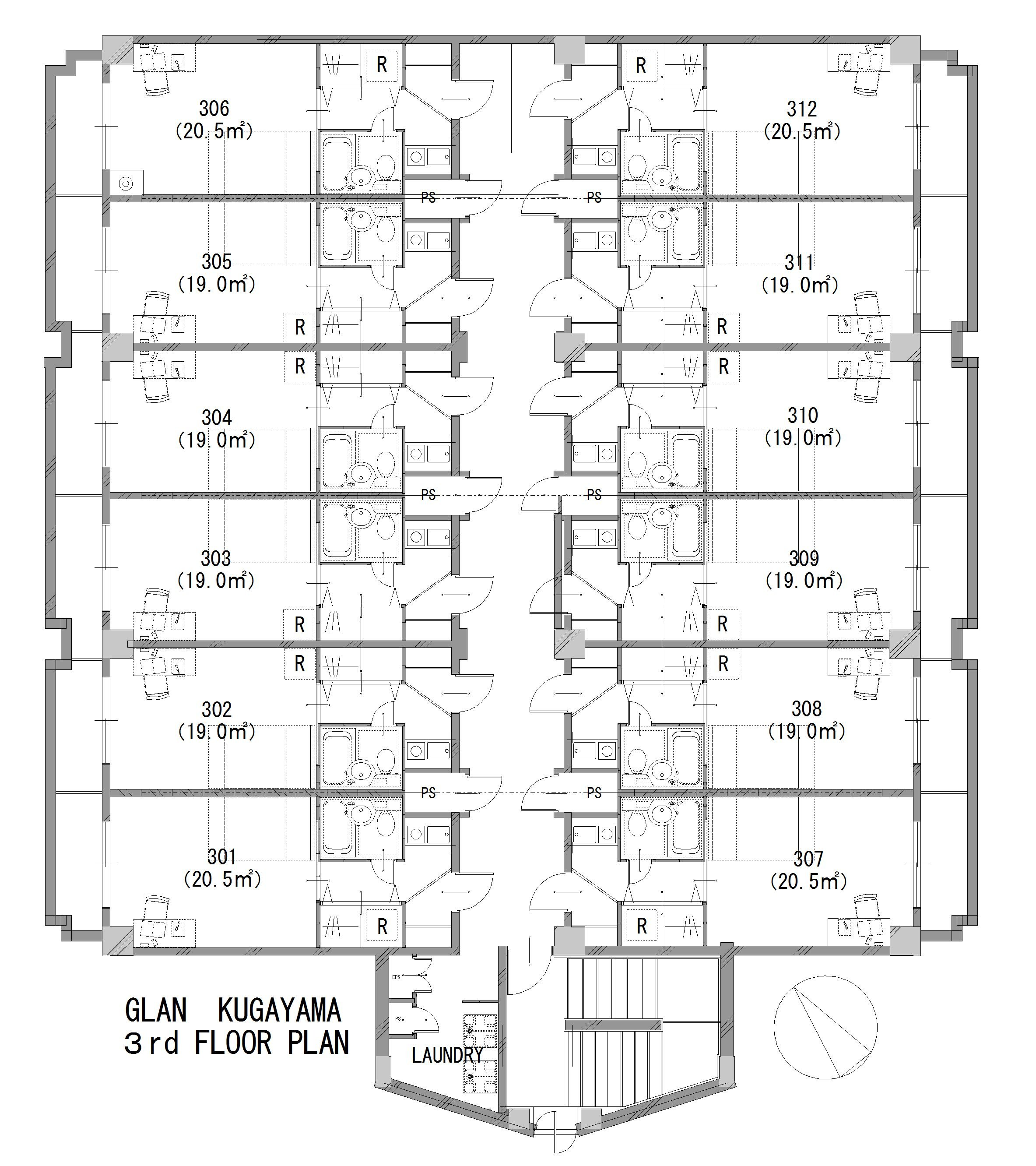 guesthouse sharehouse グラン久我山 floorplan3