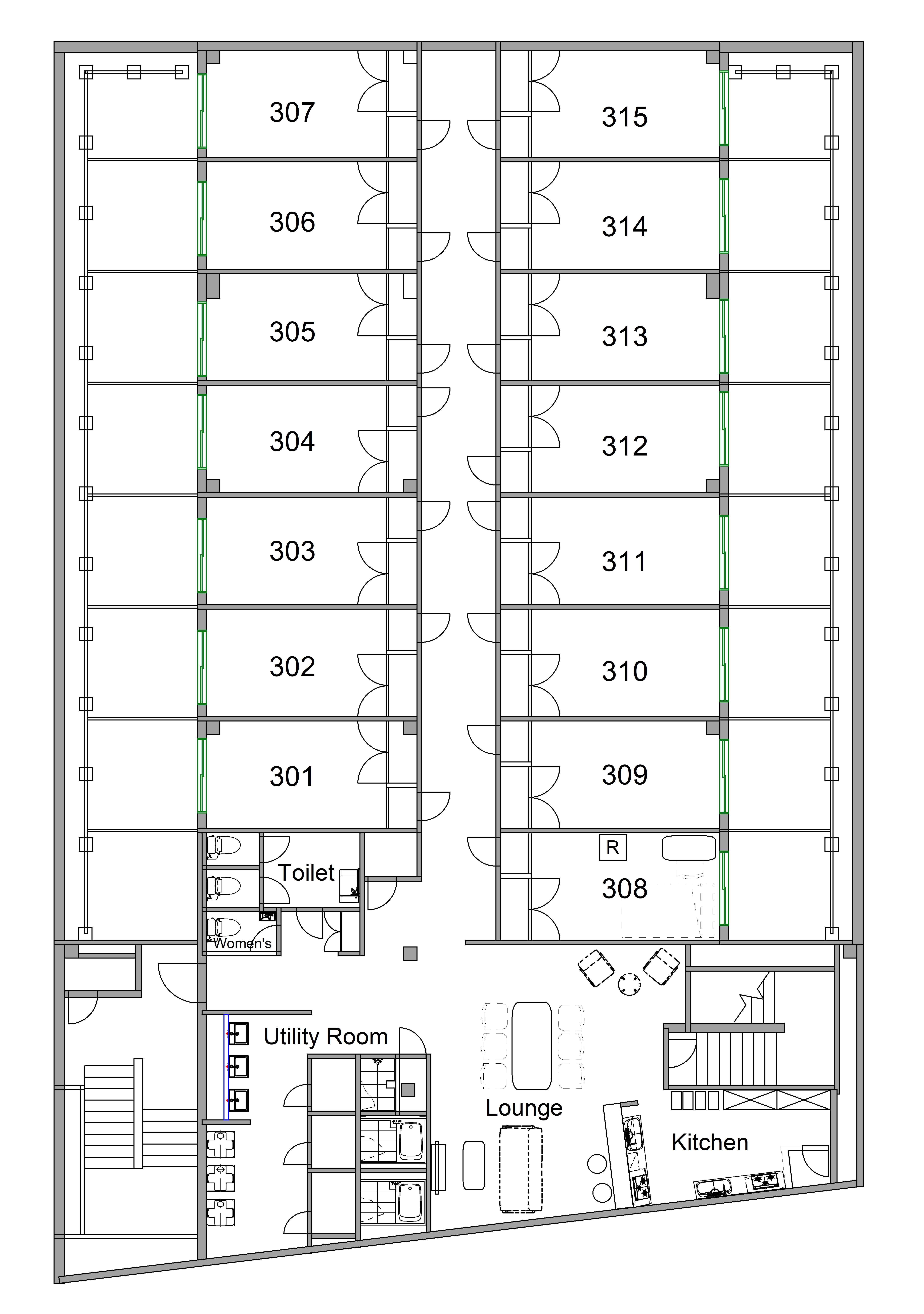 guesthouse sharehouse オークハウス立川駅前 floorplan2