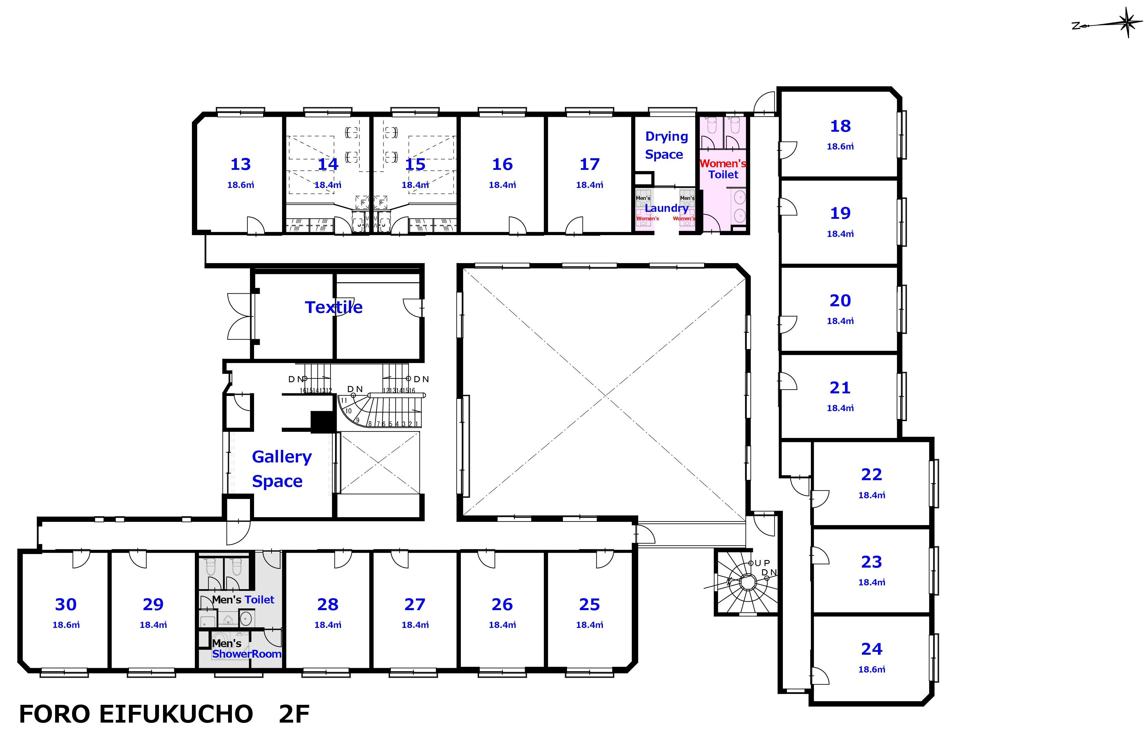 guesthouse sharehouse FORO Eifukucho floorplan2