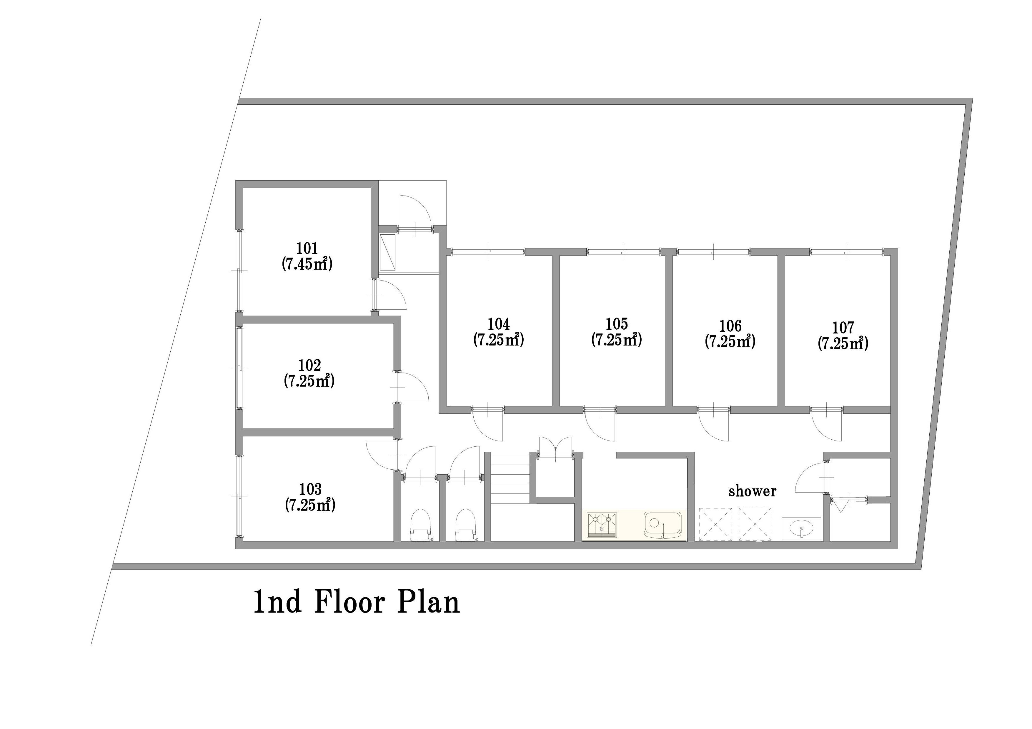 guesthouse sharehouse Casadia練馬 floorplan1