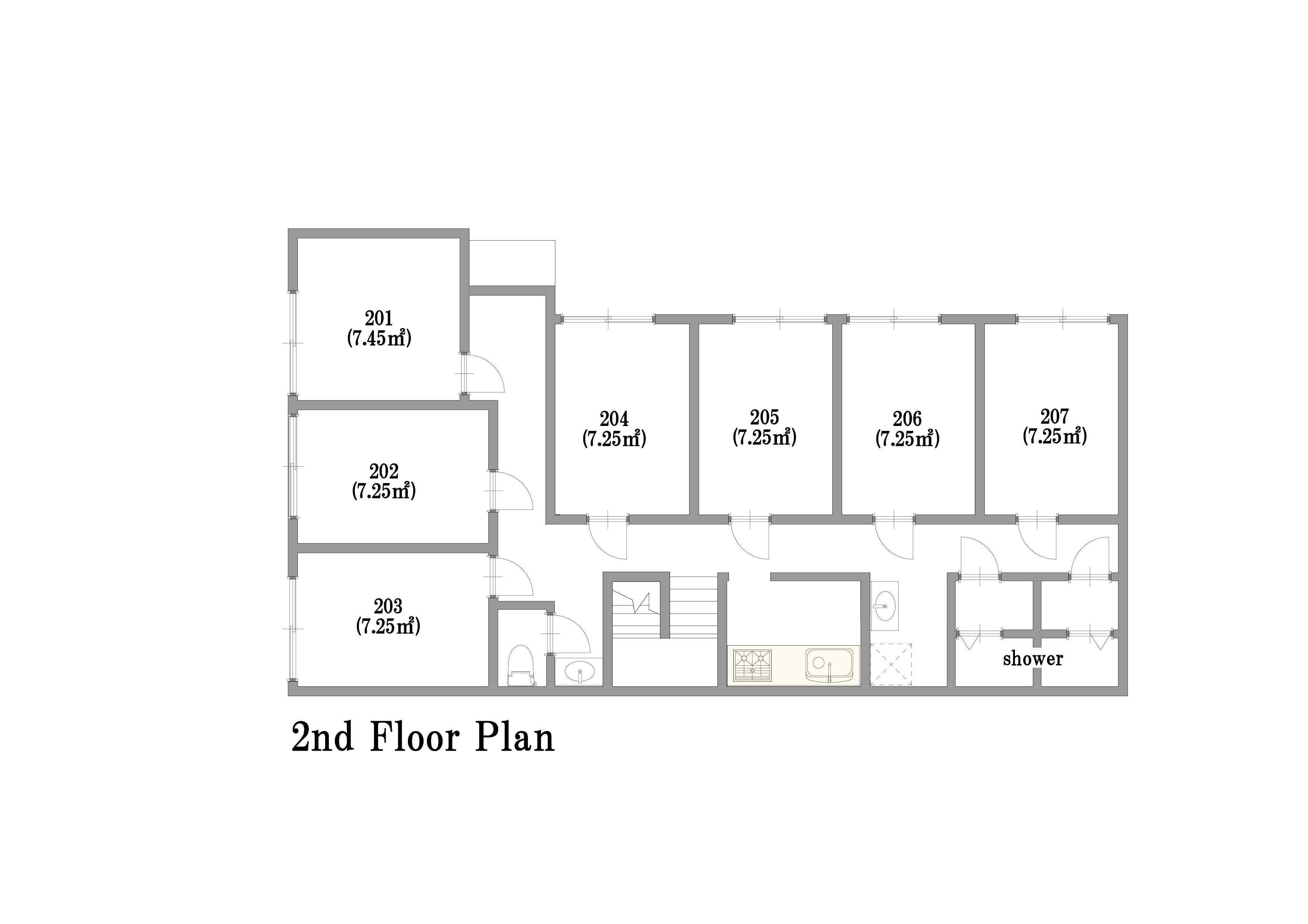 guesthouse sharehouse Casadia練馬 floorplan2