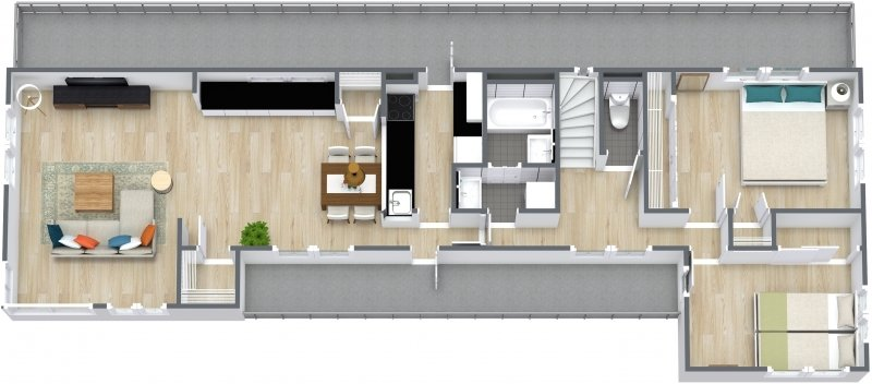 guesthouse sharehouse メゾンシェル floorplan1