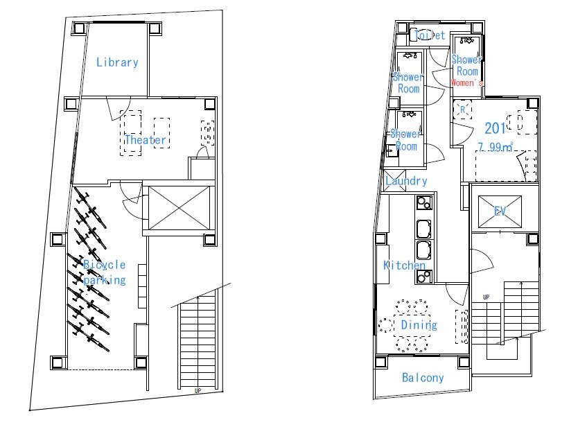 guesthouse sharehouse 프리미어 코마고메 floorplan1