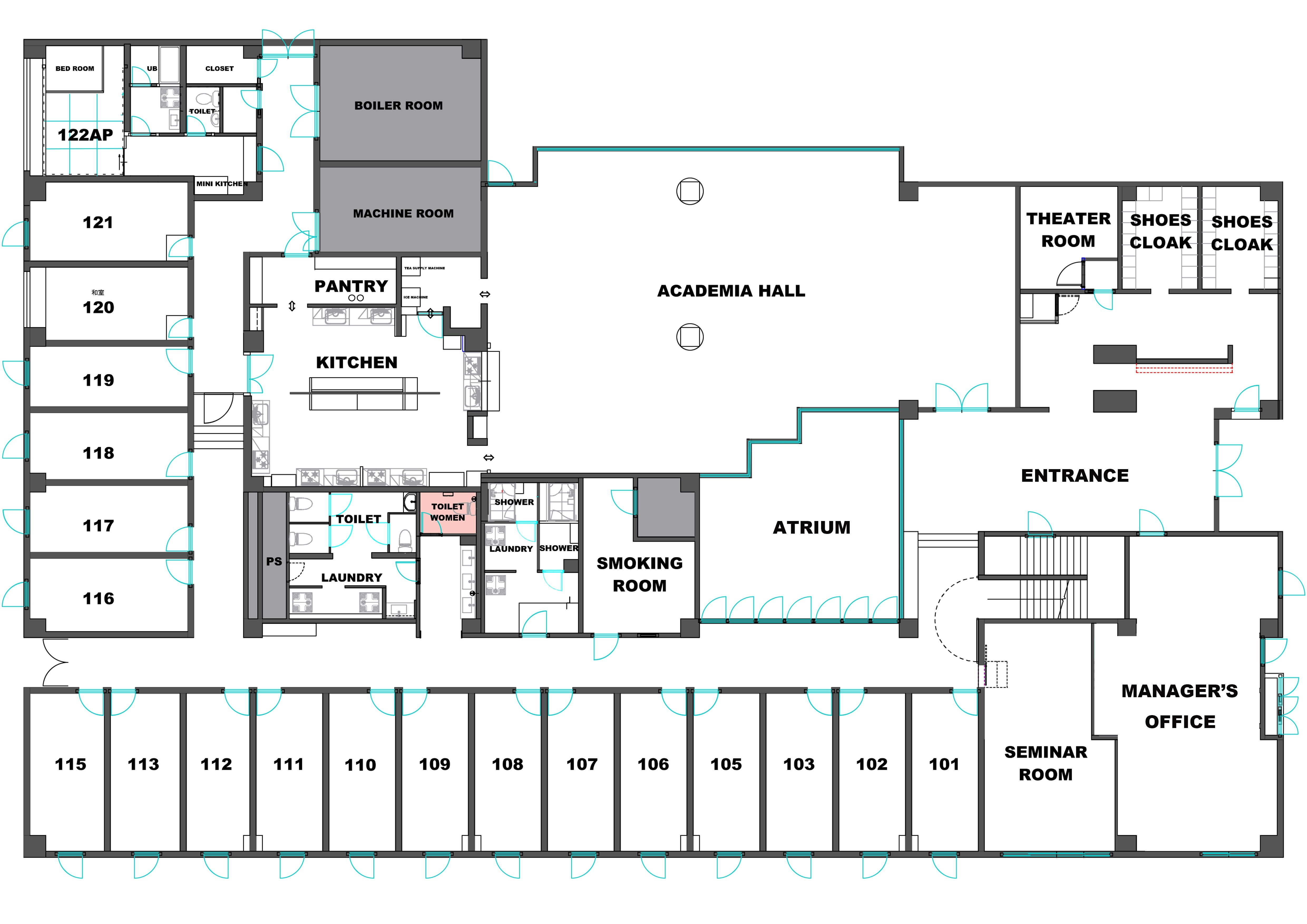 guesthouse sharehouse Social美宅 Academia横浜 floorplan1