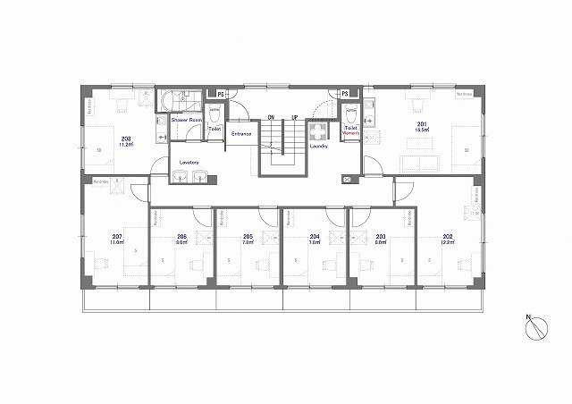 guesthouse sharehouse ジアス南砂 floorplan2