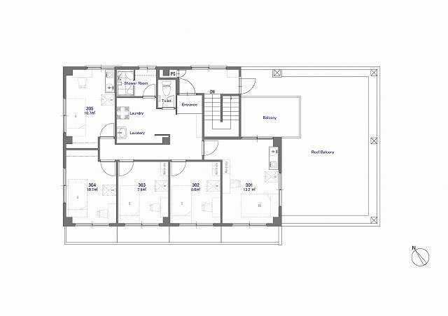guesthouse sharehouse ジアス南砂 floorplan3