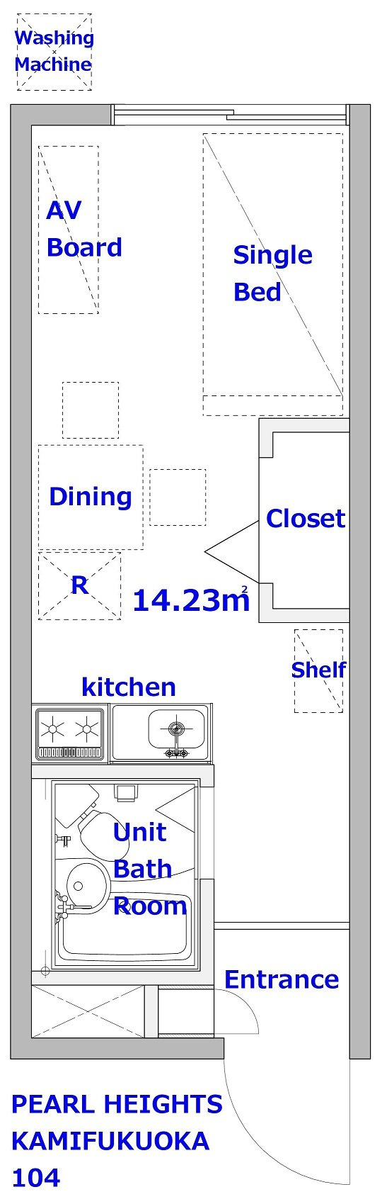 guesthouse sharehouse PEARL HEIGHTS KAMI-FUKUOKA floorplan1