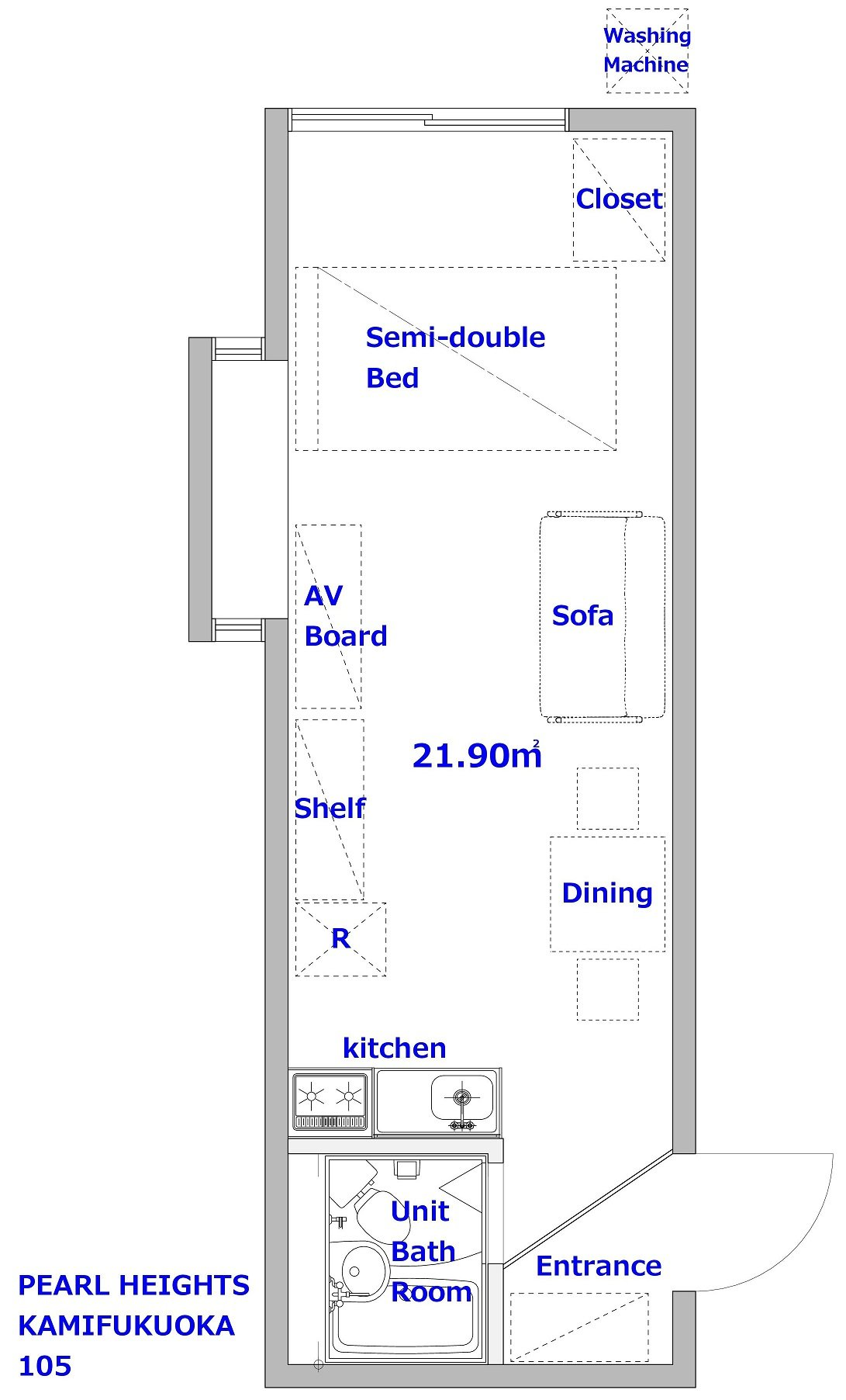 guesthouse sharehouse PEARL HEIGHTS KAMI-FUKUOKA floorplan2