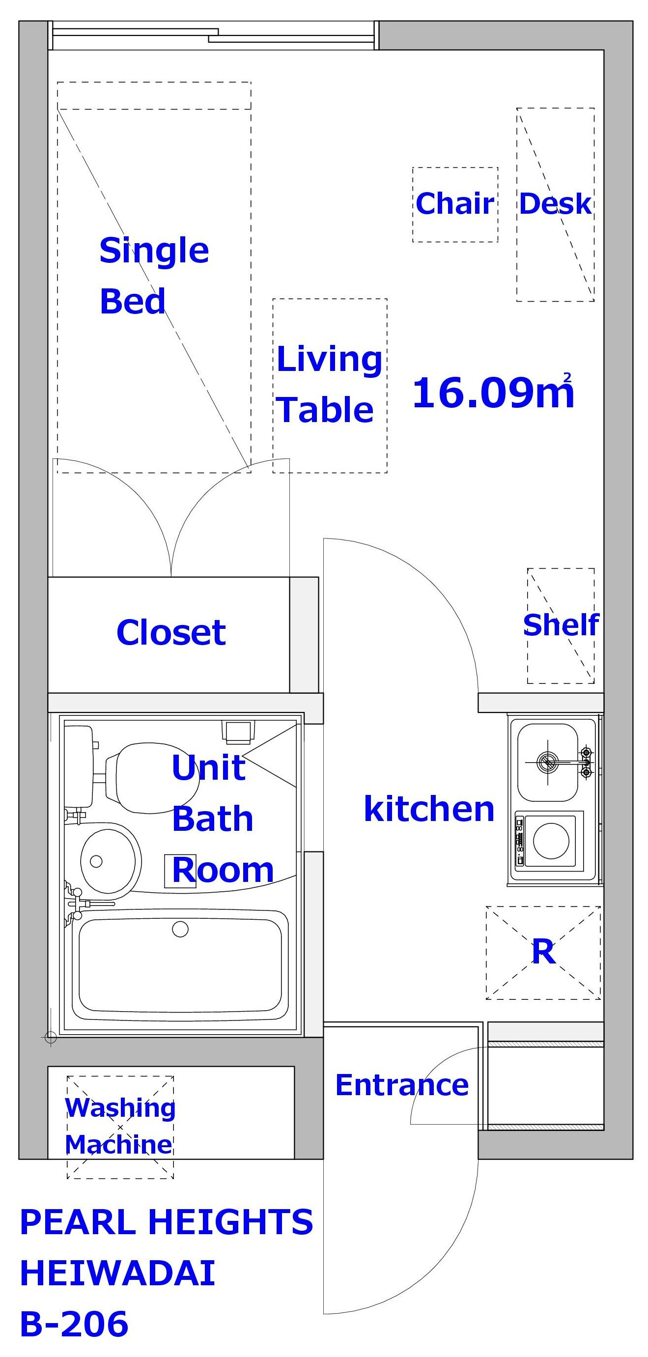 guesthouse sharehouse PEARL HEIGHTS HEIWADAI floorplan3