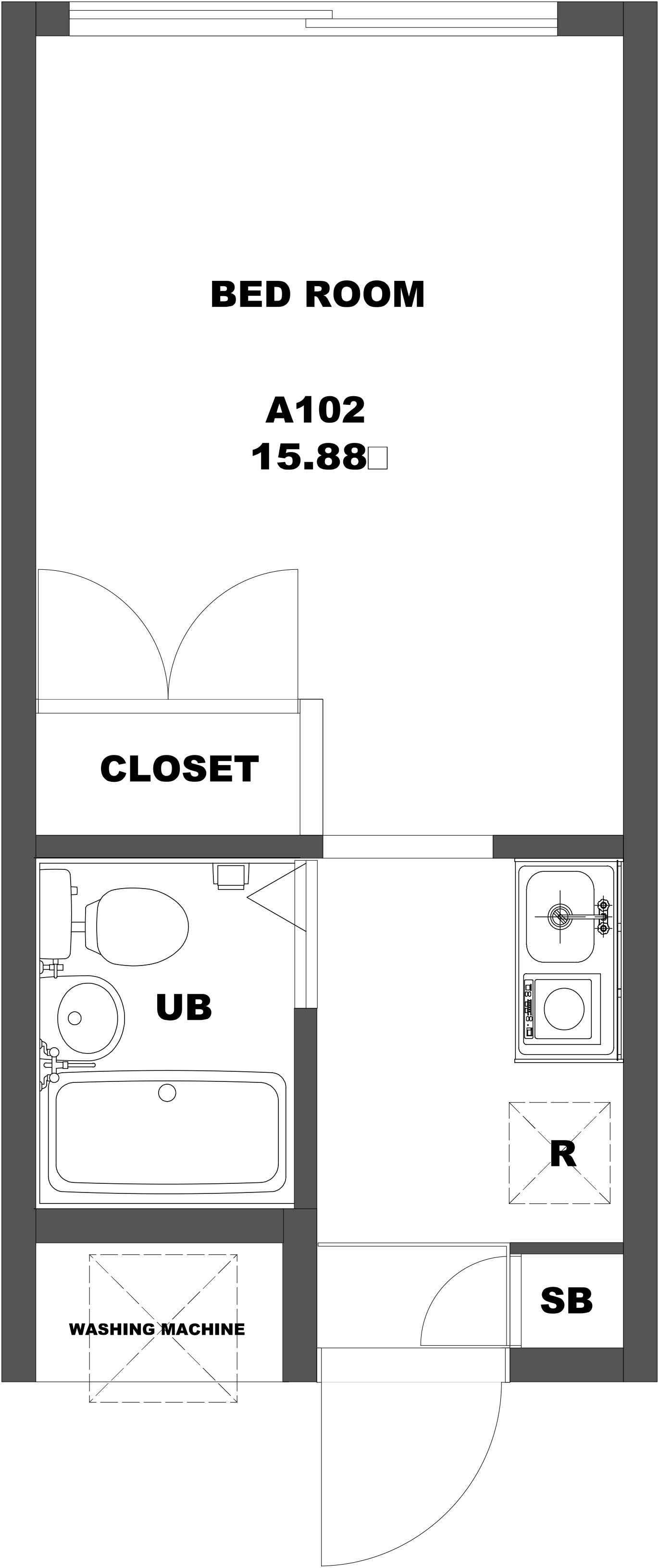 guesthouse sharehouse PEARL HEIGHTS HEIWADAI floorplan4