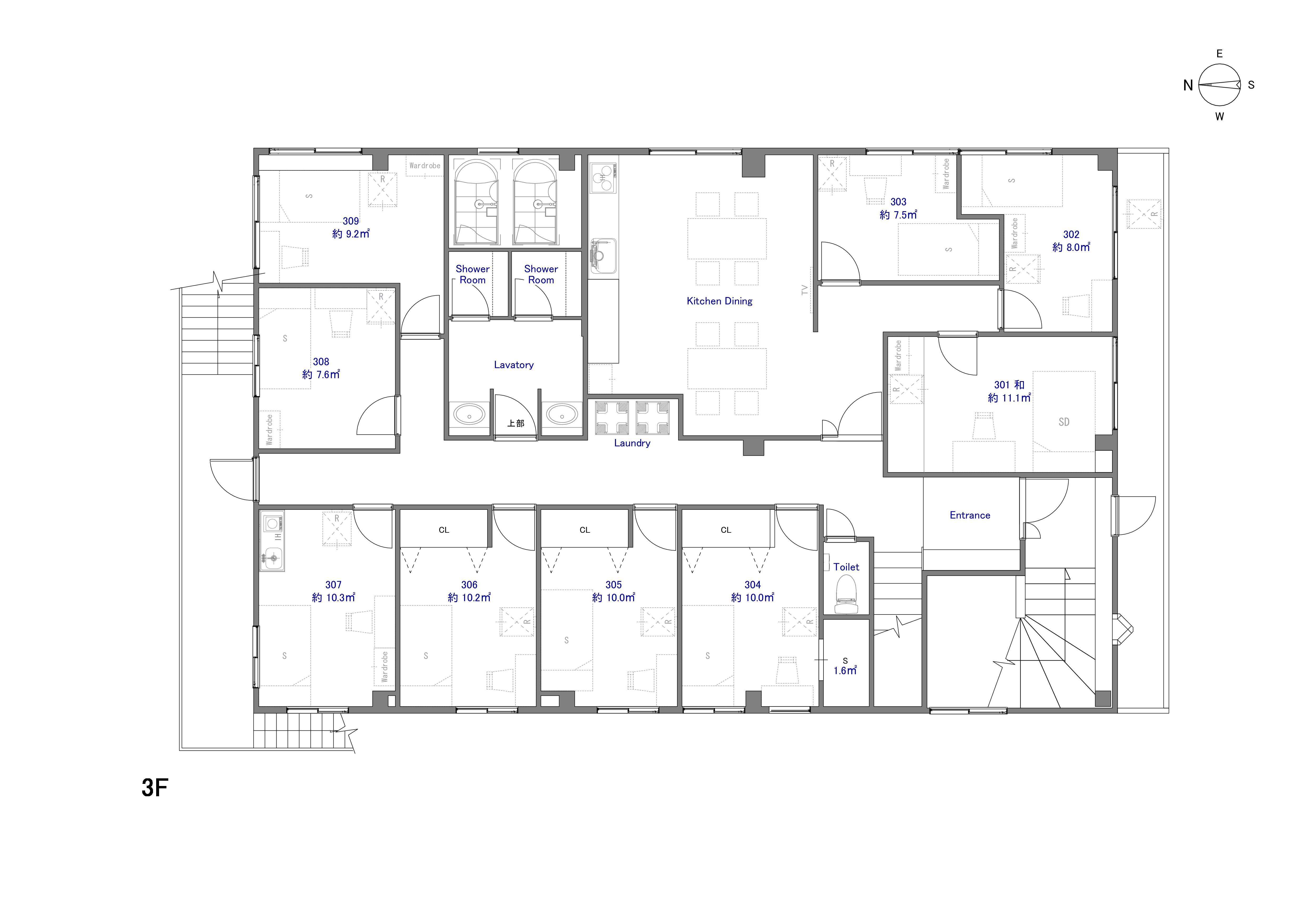guesthouse sharehouse The Earth羽田 floorplan3