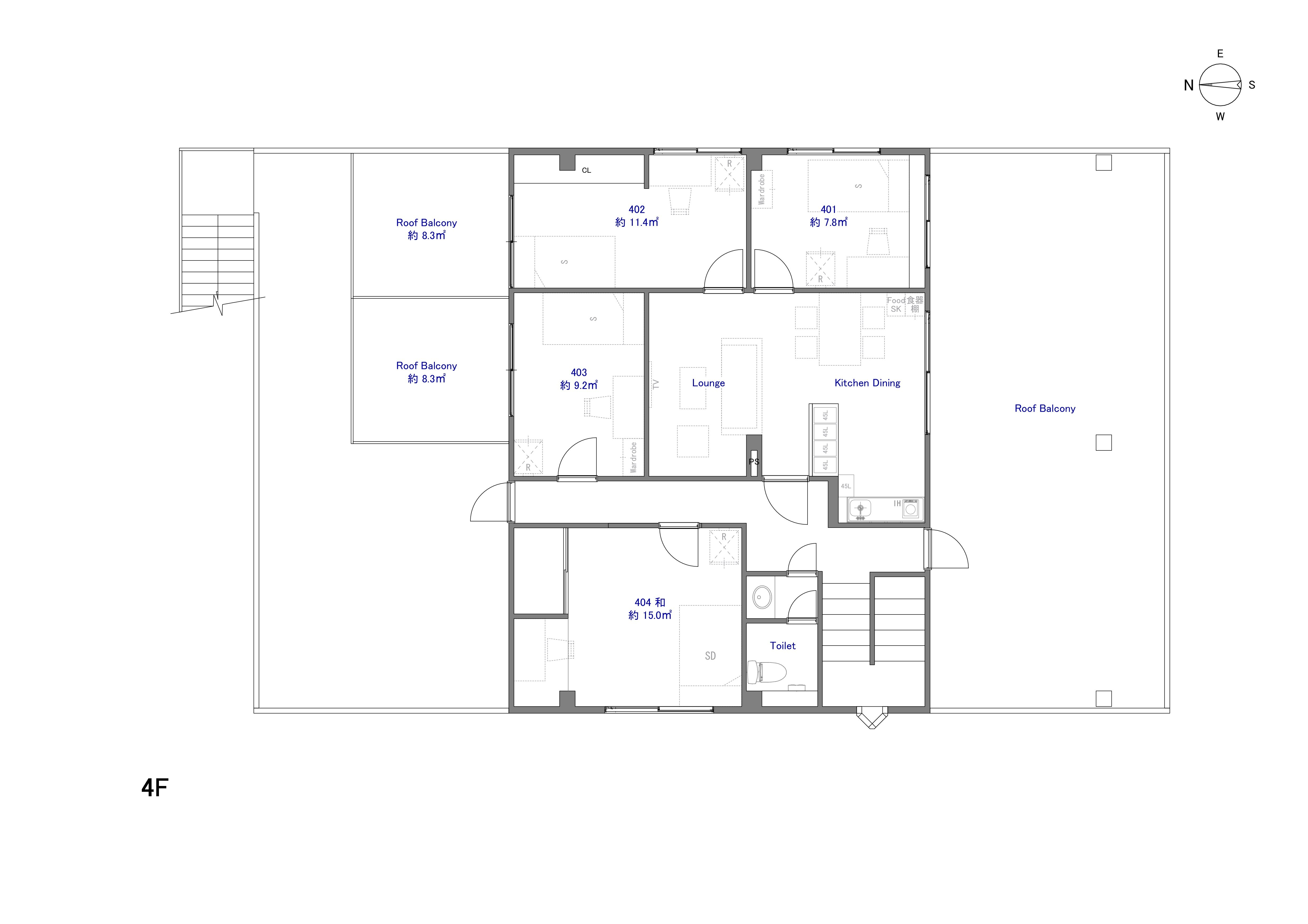 guesthouse sharehouse The Earth羽田 floorplan4