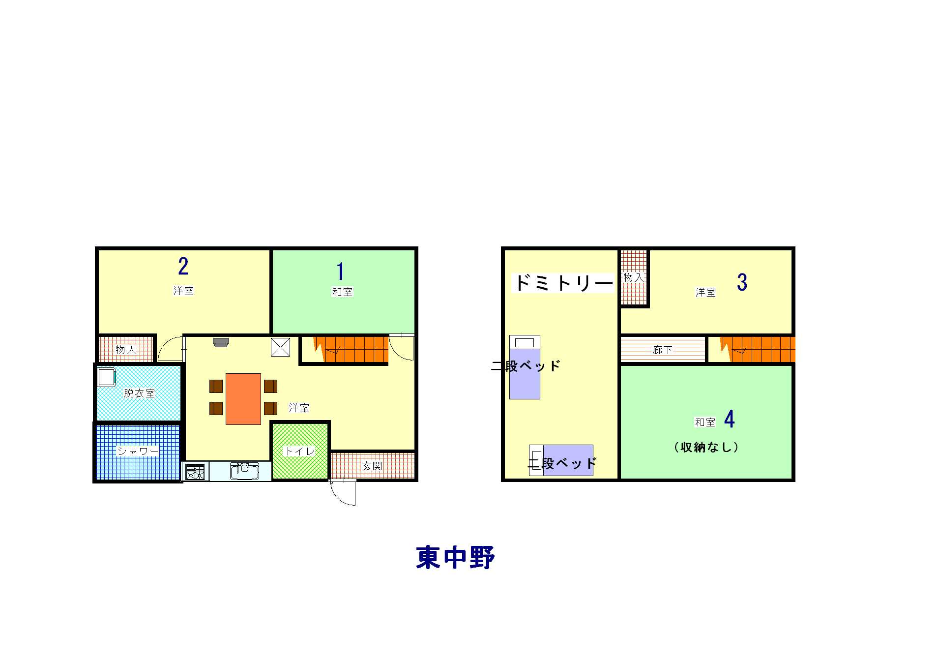 guesthouse sharehouse オークハウス東中野 floorplan1