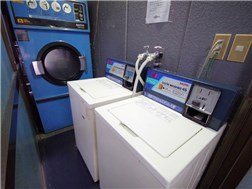Free washing machine、dry machine is a charge.