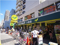 There are supermarket、¥100shop aroud IRIYA station.