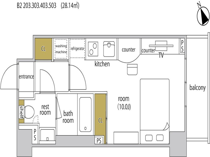 guesthouse sharehouse ヘーベルSTAY代官山 room203-B2